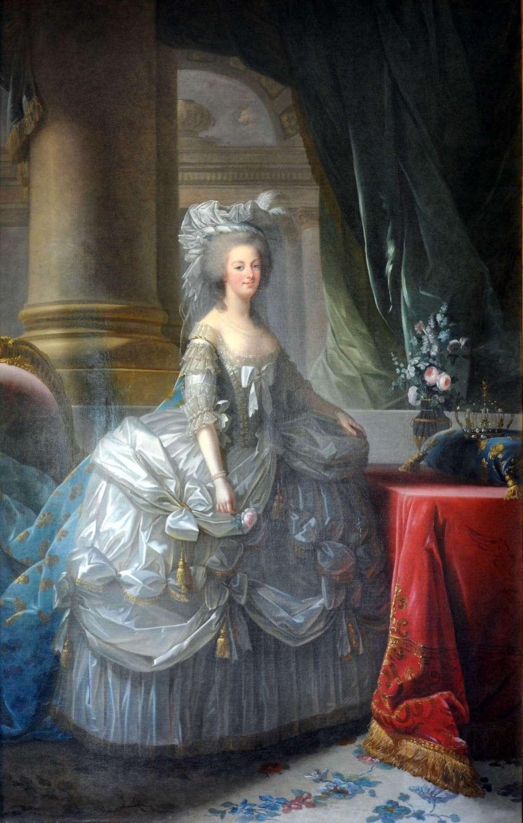Marie-Antoinette par Vigée Le Brun (1783), d'après le portrait de 1778 Marie-10