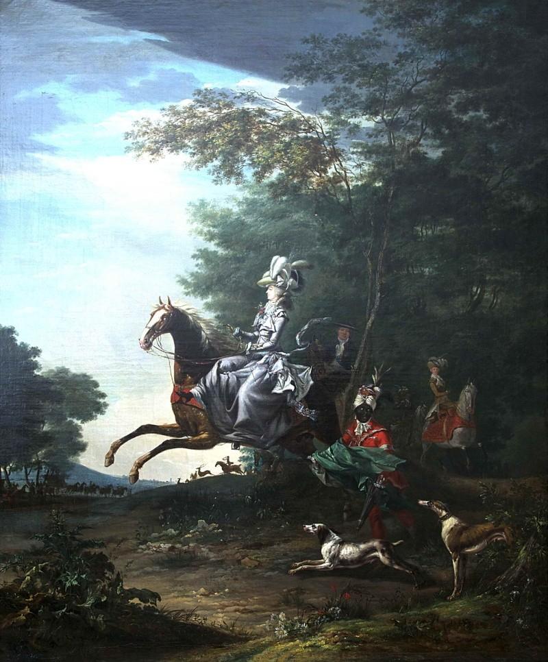 Louis-Auguste Brun, portraits de Marie-Antoinette en tenue de chasse Marie-11