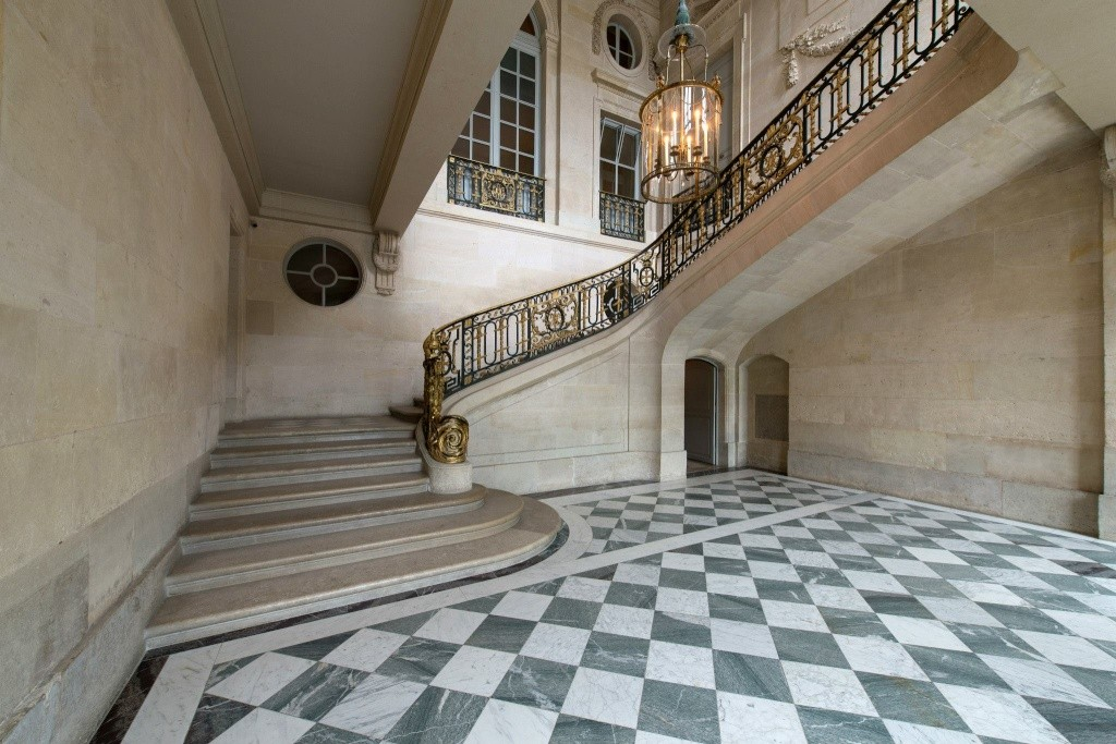 escalier - La visite du Petit Trianon: L'escalier d'Honneur Petit118
