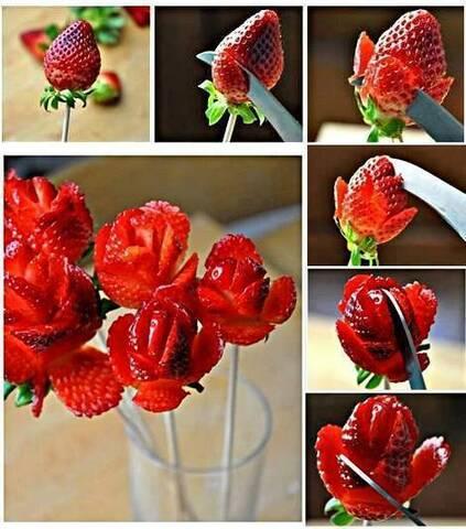 Surréaliste Bouquet de fraises OV-85