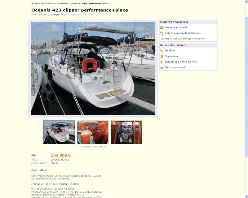 Océanis 423 Clipper Perfo 2006 à vendre 423_bm10