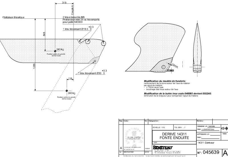 Plan du systeme de dérive sur O 311 Darive10