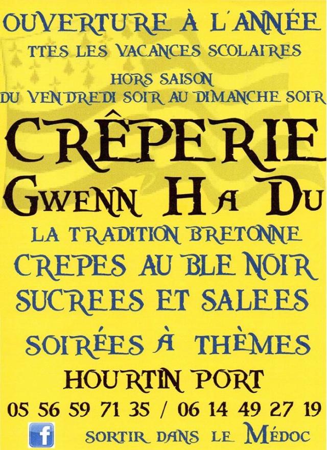"Page Facebook ""Crêperie Bretonne Gwenn Ha Du"" 14576410"