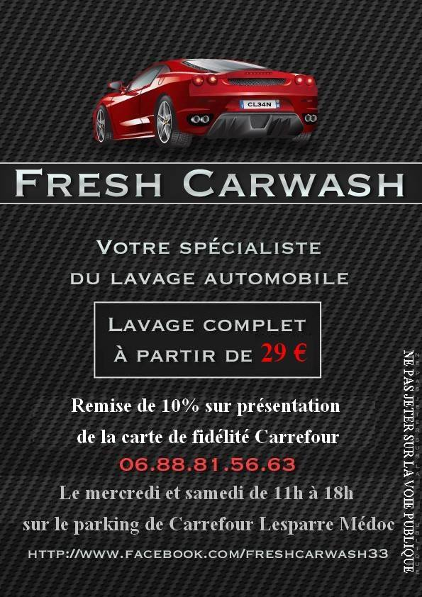 "Page Facebook "" FRESH Carwash "" 14718610"