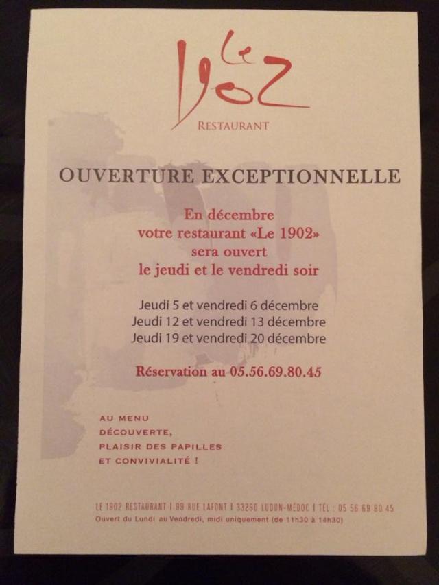 """Ouverture exceptionnelle """" Le 1902 """" 14729610"""