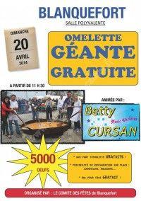 Omelette Géante Gratuite le 20 Avril 2014 à Blanquefort Fd744a10