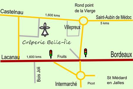 Crêperie Belle-Ile à St Aubin de Médoc Plan-c10