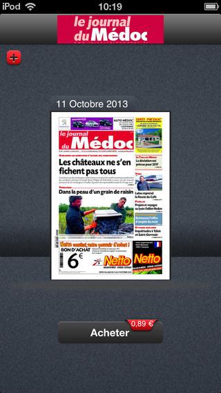 """Application """"Le Journal du Médoc """" Screen10"""