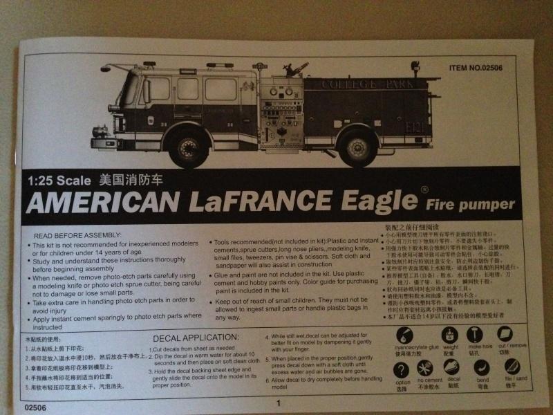 American LaFrance Eagle Fire Pumper 1:25 (Trumpeter) Img_9211