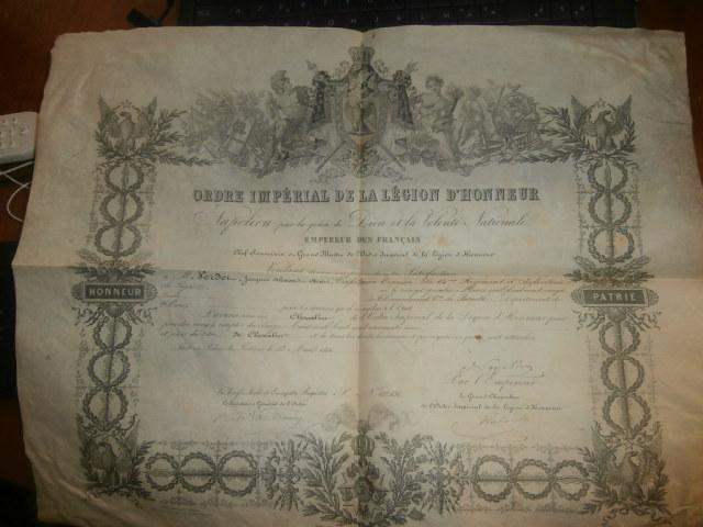 diplome legion d'honneur second empire P4140310