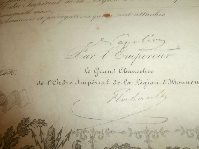 diplome legion d'honneur second empire P4140313