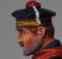 14-18 Fusilier Marin de Métal Modèles Visage17