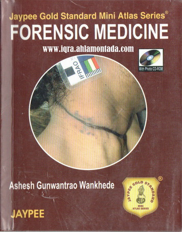 FORENSIC MEDICINE  BY Ashesh Gunwantrao Wankhede 73111