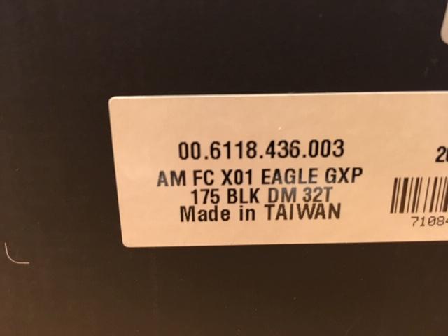 [VENDU] NEUF : Pédalier sram eagle x01 gxp 32 dents 175 12v (VENDU) Img_3010