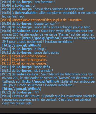 Hack éviter des justesse ! ouf x) Hack410