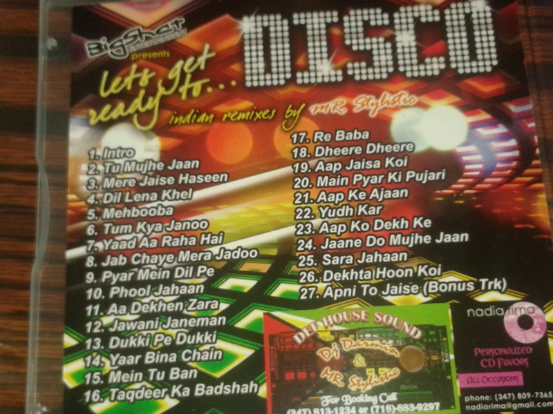 Bigshat Entertainment Presents Mr. Stylistic Lets Get Ready To Disco (JUNE 2010) Back_c10