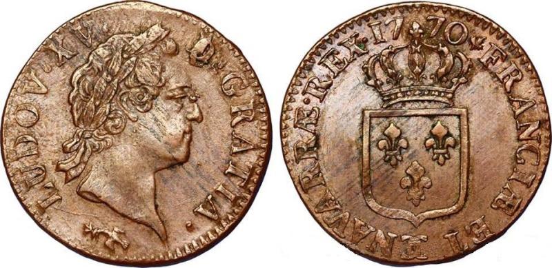 "Louis XV : Sol "" à la vieille tète "" 1770 Besançon 14917210"