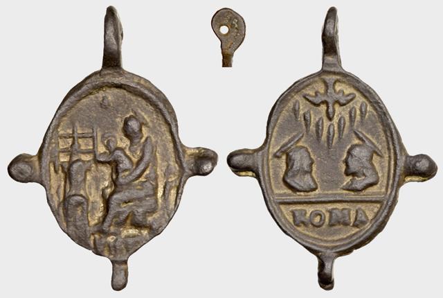 Medalla N.S. De Montserrat / Jesucristo y María  S.XVII (R.M. Pe Montserrat 9) A034_d10