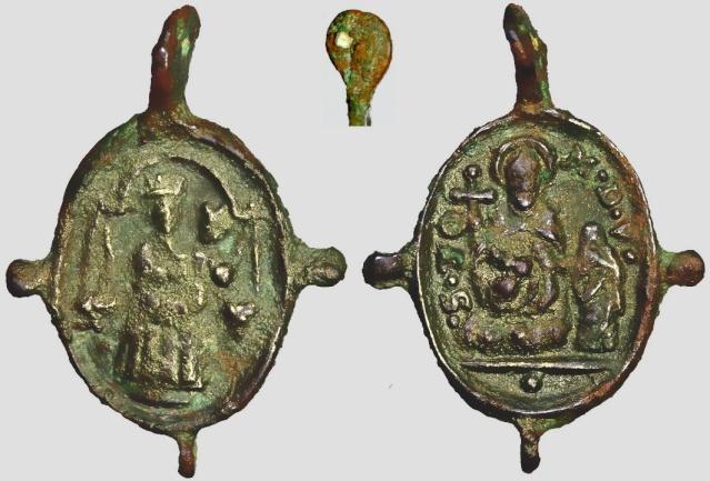 Medalla N.S. de Loreto / Santo Tomás de Villanueva S.XVII (R.M SXVII-O299) A065_d11