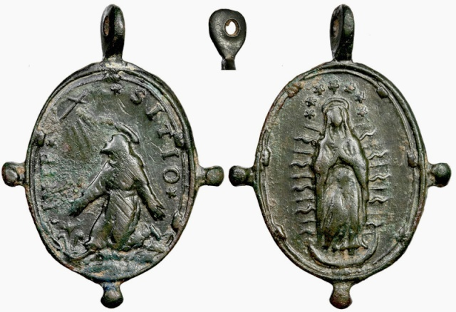 Medalla S. Francisco de Asís / Inmaculada S. XVII (R.M. Pe Francisco de Asis 8) B078_d10