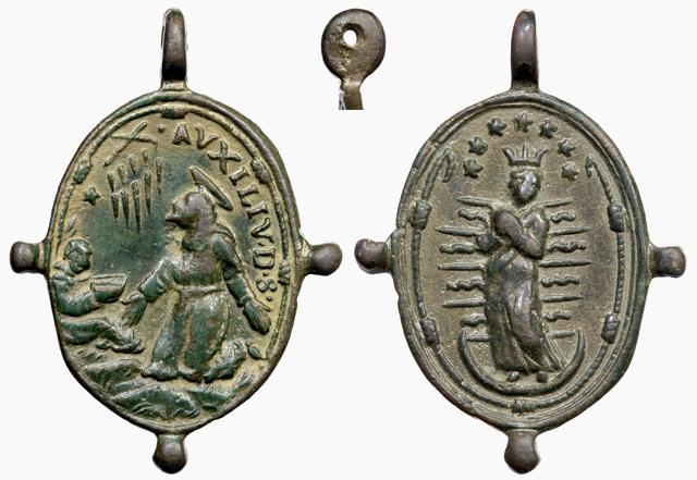 Medalla S. Francisco de Asís / Inmaculada (R.M. SXVII-O266) B133_d10