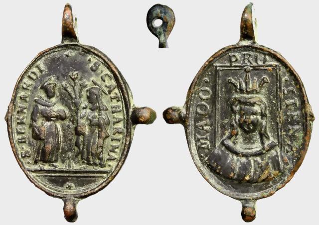 Crucifixión de Jesús / San Bernardino y santa Catalina de Siena, S. XVII C017_d11