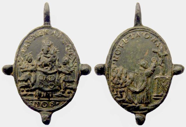 Medalla Nª Sª de los Corporales de Daroca / Milagro Eucarístico , S-XVII.(R.M. SXVII-O276) Corpor11