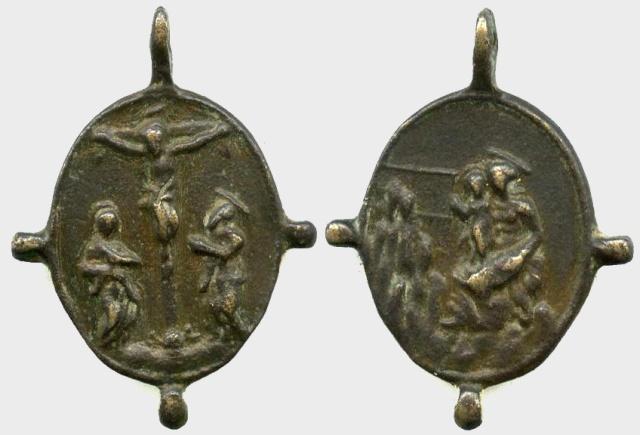 Cristo Crucificado / Virgen de Montserrat (R.M. S. XVII-O249) Crucif12