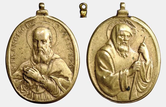 Medalla S. Francisco de Sales / S. Francisco de Paula HAMERANI  (R.M. SXVII-O259) D018_d10