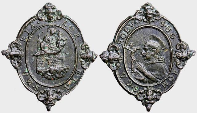 Medalla Traslación Santa Casa de Loreto  /  S. Carlos Borromeo  (R.M. SXVII-O251)  D028_d10