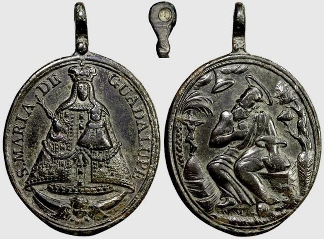 Medalla Virgen de Guadalupe / San Jerónimo (R.M. SXVIII-O212) (MAM) D044_d10