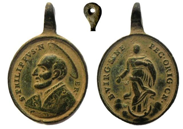 Medalla S. FELIPE NERI / LA INMACULADA (R.M. SXVIII-O203) Felipe11