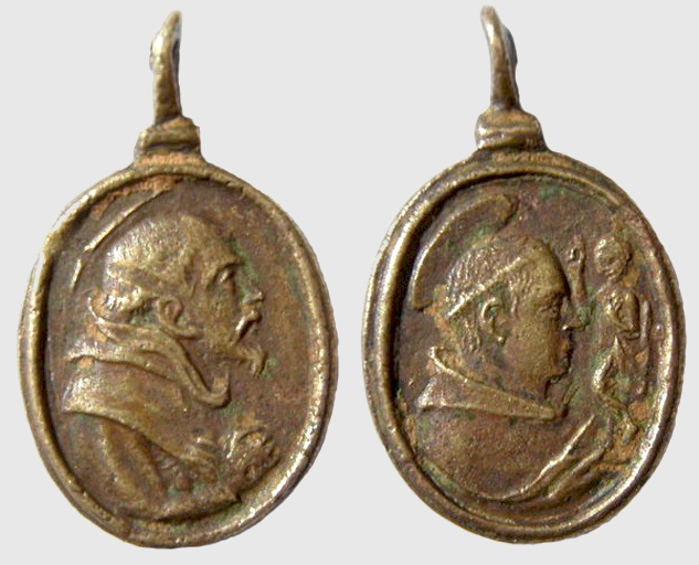 Medalla S Francisco de Asis / S Antonio de Padua , S. XVII - (R.M. SXVII-O287) Franci23