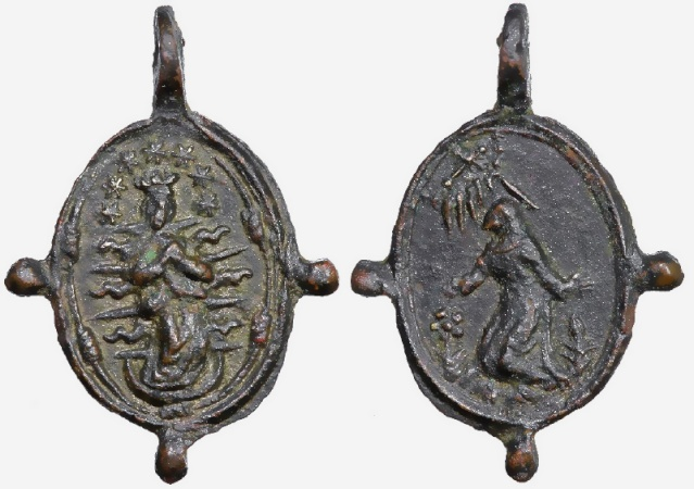 asis - Medalla Inmaculada / S. Francisco de Asis  S. XVI-XVII (R.M. Francisco de Asis 19) Franci25