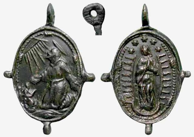 Medalla S Francisco de Asís / Inmaculada - MR(094) (R.M. SXVII-O291) Franci26