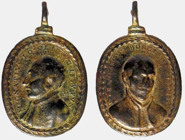 S Ignacio de Loyola / S Francisco de Borja  (con marca de autor)(R.M. SXVII-O280) Ignaci10