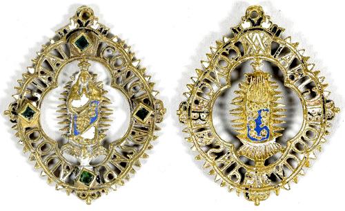 Medalla de ventana Inmaculada Concepción , S. XIX (R.M. PFV-Inmaculada 2) Inmacu10
