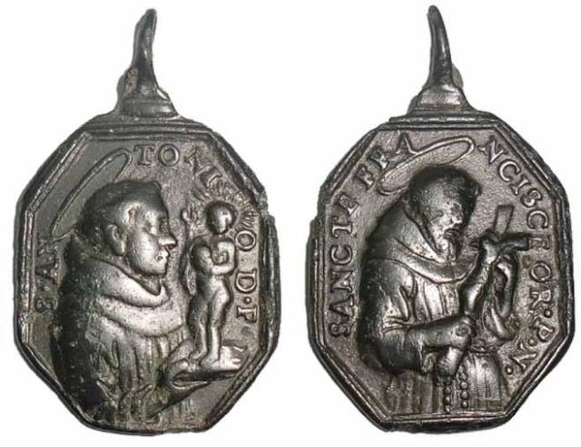 Recopilacion medallas  San Francisco de Asis Italic11