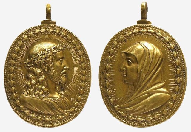 Jesucristo Salvator Mundi / Virgen María Mater Salvatoris (Hamerani)(R.M. SXVII-O297) Jesucr22