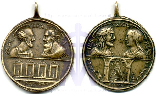 Pedro - Santos Pedro y Pablo - 4 basilicas / Jesus y Maria - Escalera Santa - s. XVII (R.M. SXVII-C14) Jubile13