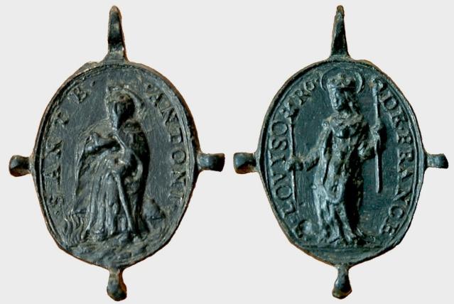 Medalla S Antonio Abad  / S Luis de Francia S. XVII (R.M. Pe Antonio Abad 2) Luis_d11