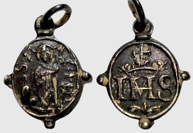 san magi - Medalla San Magí / Monograma IHS (Pezuelada) (R.M. SXVII-O281) Magin_11