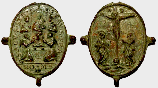 Medalla Madonna Dei Monti / Cristo crucificado en el Gólgota (R.M. Pe Monti 3) (AM) Monti_12