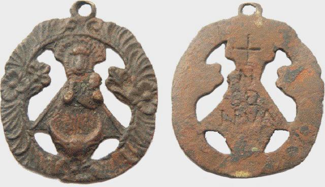 Medalla calada Nª Sª de Nieva - s. XVII-XVIII (R.M. PFV-Nieva 8) Nieva-16