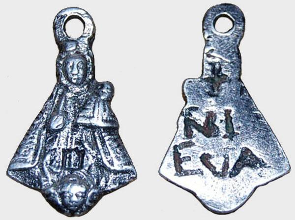 Medalla Figurada (Plata) Virgen de Nieva  (R.M. PFV-Nieva 9 y 10 ) Nieva-17