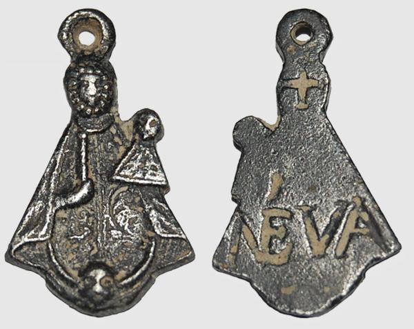 Medalla Figurada (Plata) Virgen de Nieva  (R.M. PFV-Nieva 9 y 10 ) Nieva-18