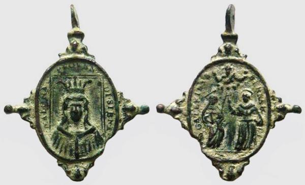 provenzano - Madona di Provenzano / S. Catalina y S. Bernardo de Siena - s. XVII (R.M. Pe Provenzano 1) Proven10