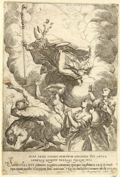 San Ubaldo de Gubbio / San Agustín de Hipona s.XVIII (R.M SXVIII-O231) Ubaldo10