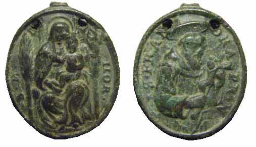 S. Francisco de Asís / Madonna del Horto s. XVII  Virgen14