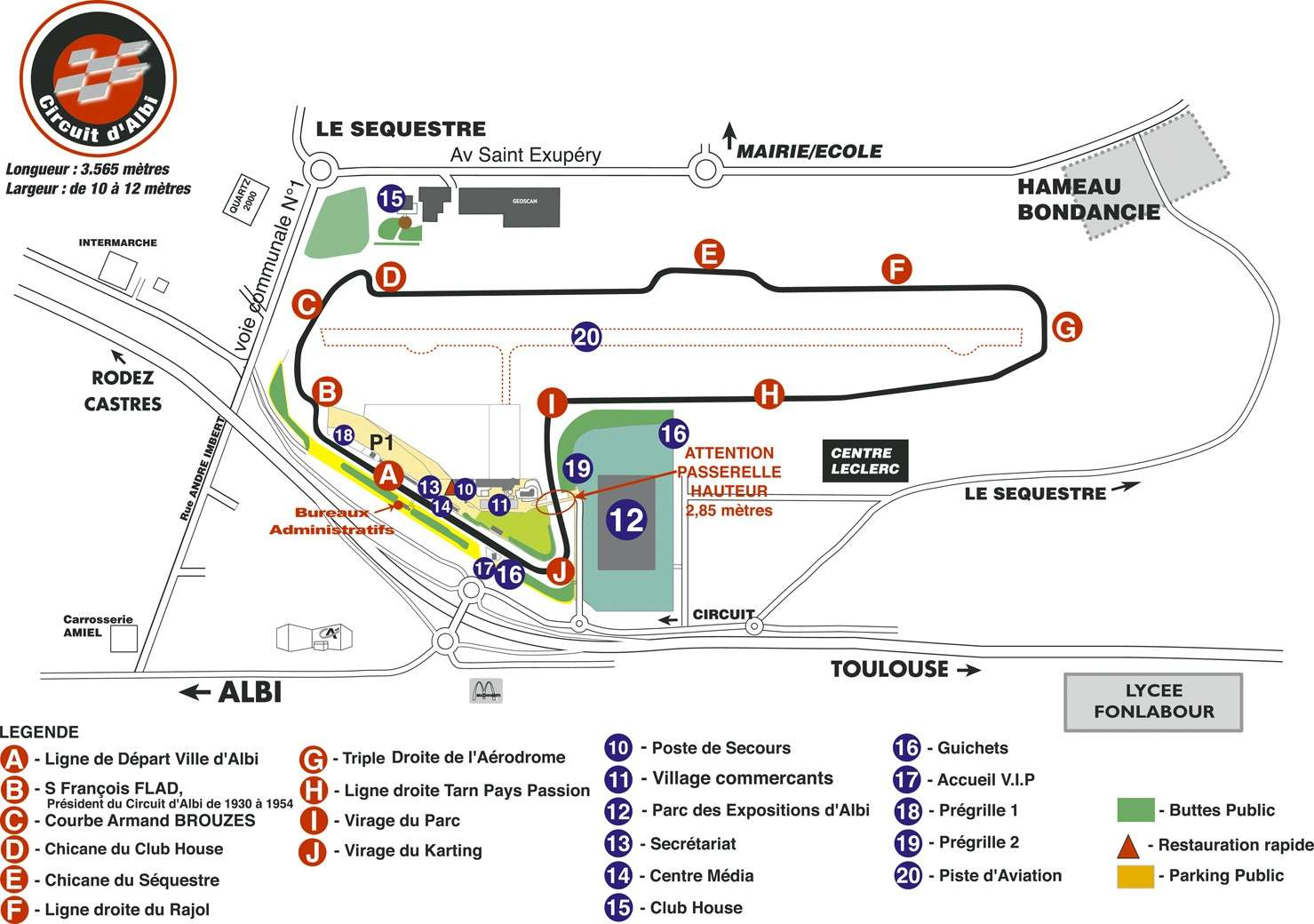 Infos générales circuits Plan-g10